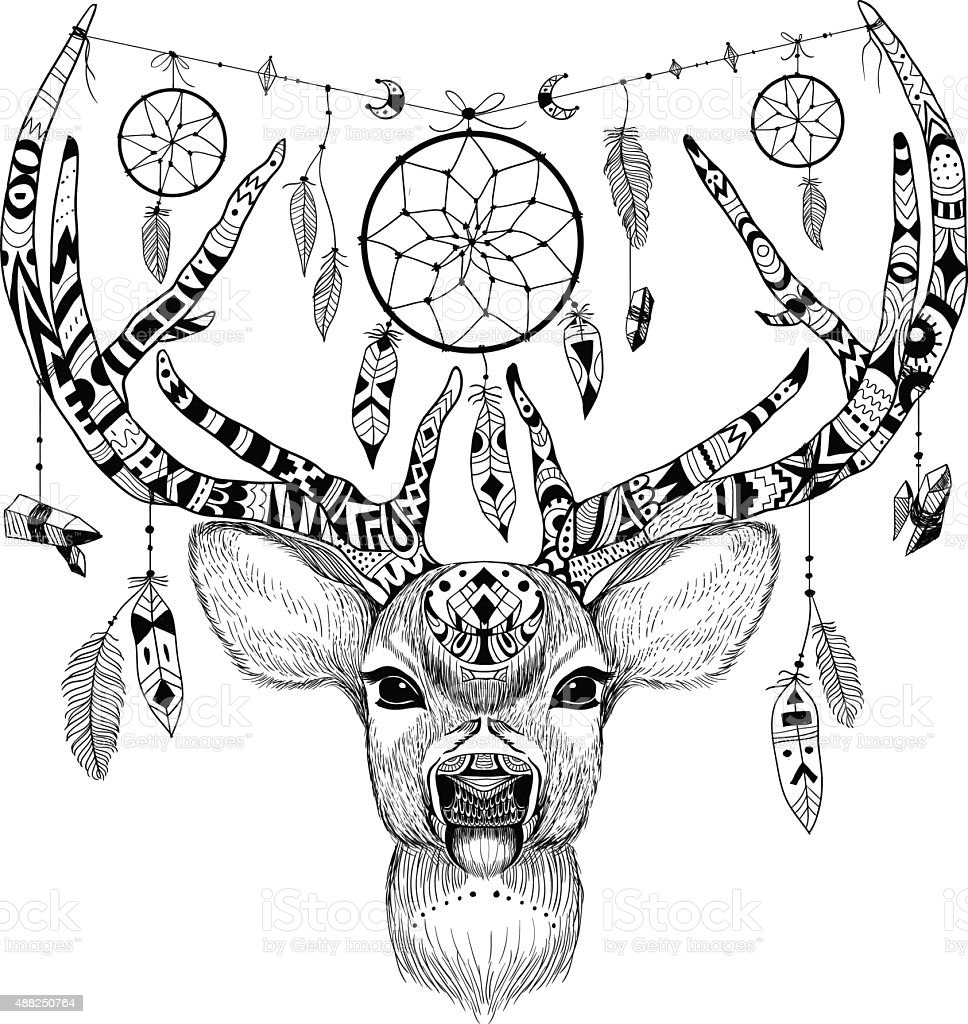 Christmas Reindeer Coloring Pages Adult