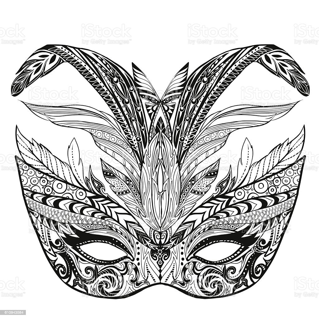 Mardi Gras Mask Coloring Pages