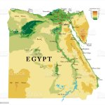 Egypt Physical Map Stock Illustration Download Image Now Istock
