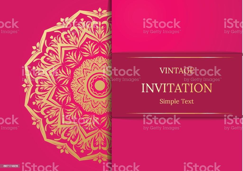 https www istockphoto com vector elegant save the date card design vintage floral invitation card template luxury gm687174928 126582559
