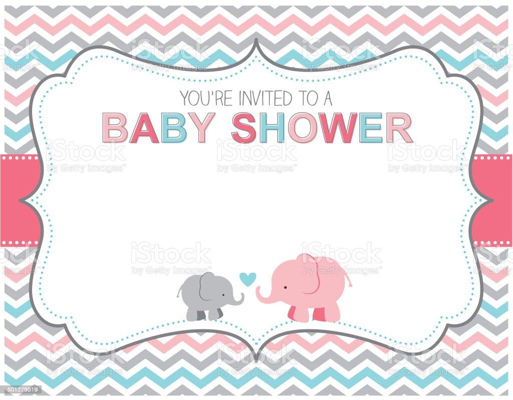 Art Girl Border Baby Clip Elephant
