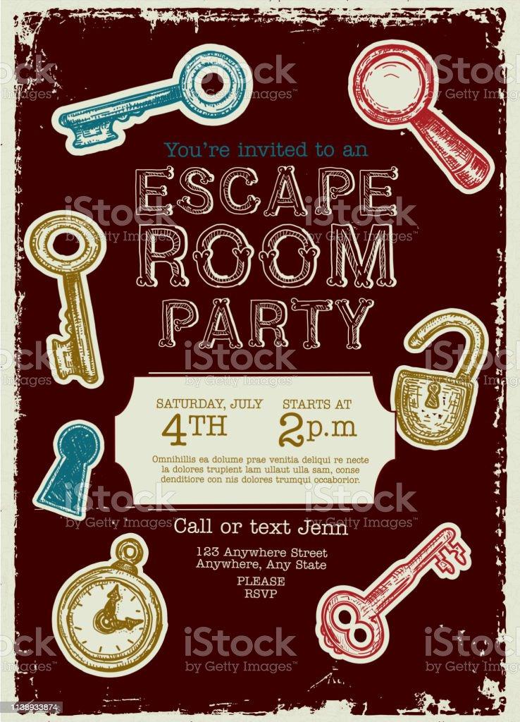escape game vector art graphics freevector com