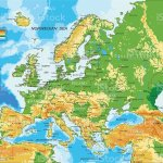 Europe Physical Map Stock Illustration Download Image Now Istock