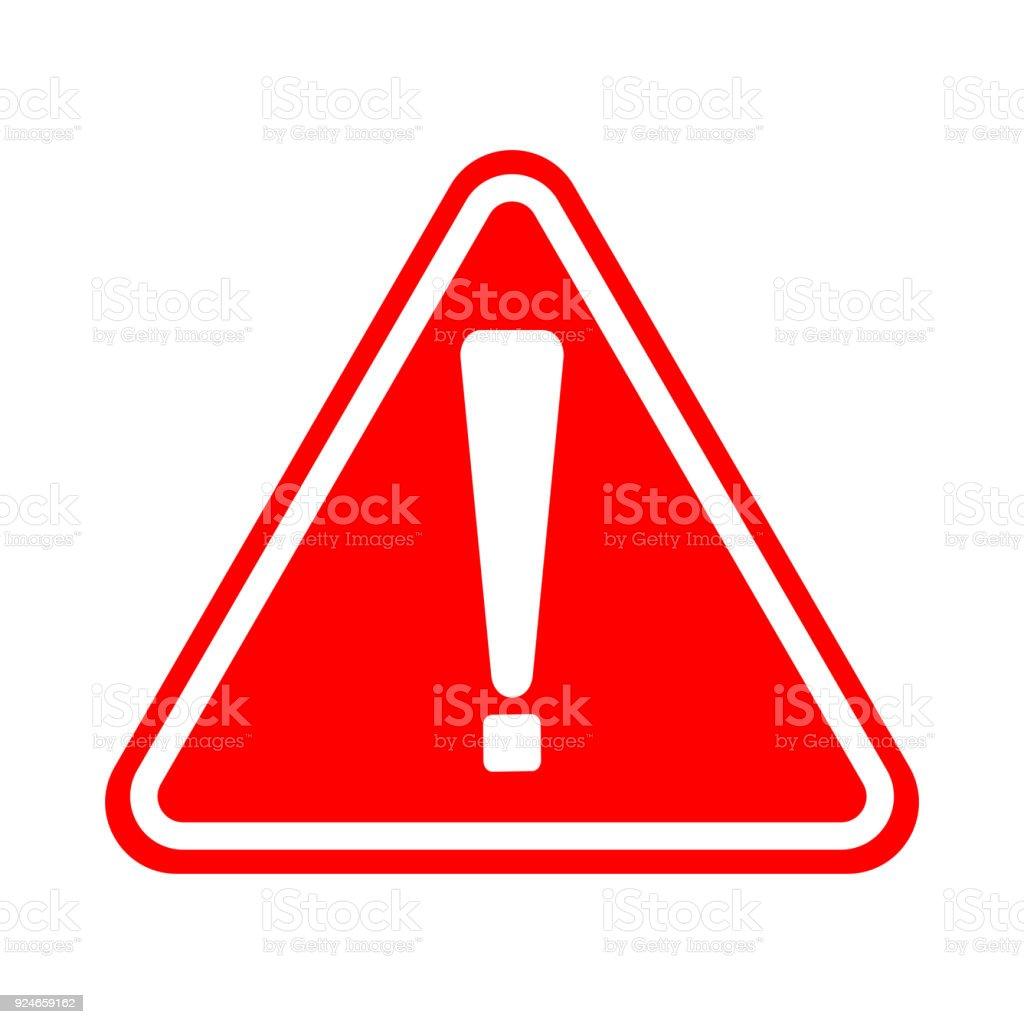 驚嘆號符號 紅色警告危險圖示白色背景向量圖形及更多10號圖片 - iStock