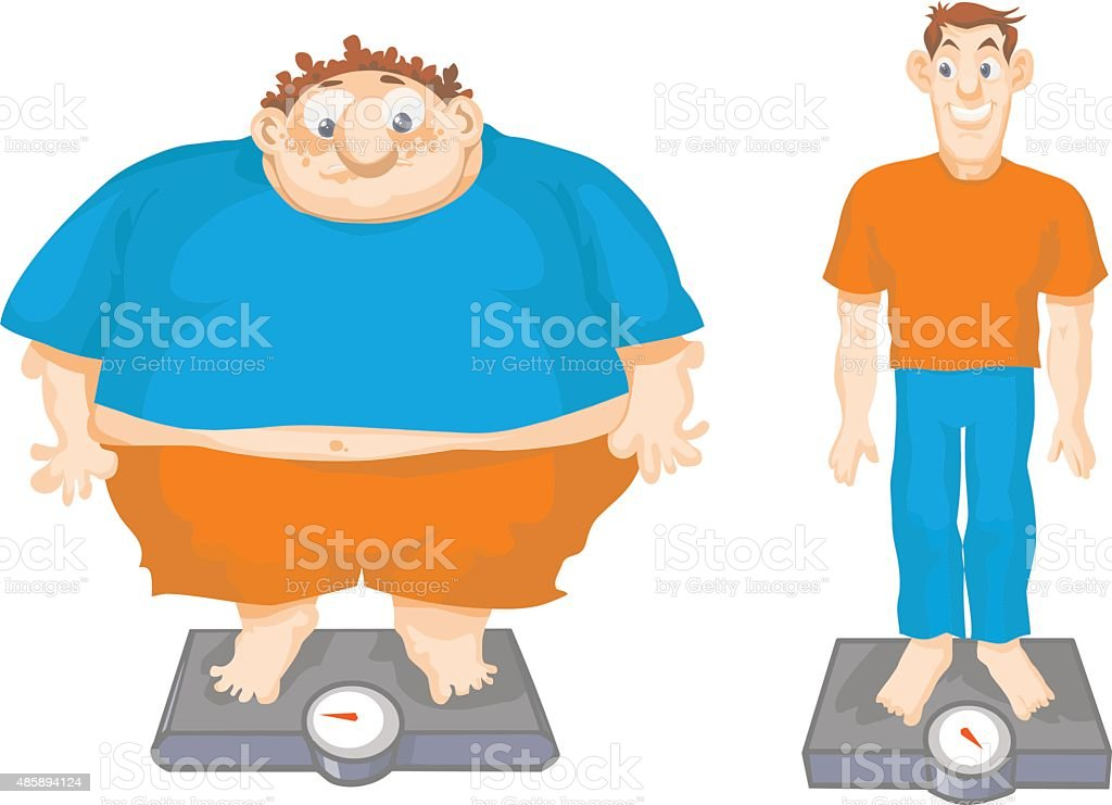 Best Fat And Thin Illustrations, Royalty-Free Vector