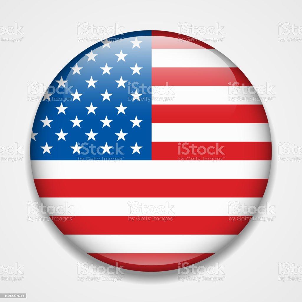 美國國旗圓形光面徽章向量圖形及更多剪裁圖圖片 - iStock