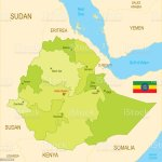 Flat Map Of Ethiopia With Flag Stock Illustration Download Image Now Istock