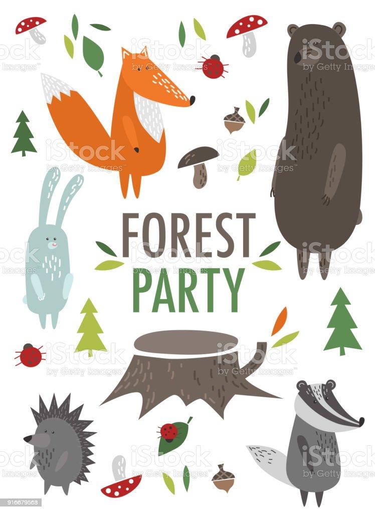 woodland invitation free vector art 36 free downloads