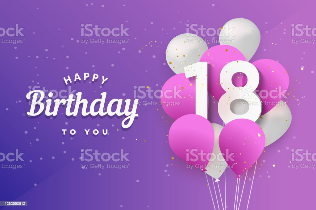19 background of the 18th birthday signs illustrations clip art istock