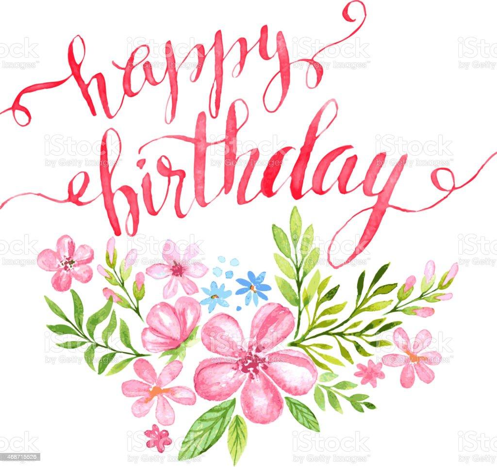 Saludos happy birthday with flowers izmirmasajfo
