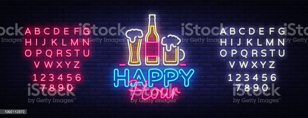 Happy Hour Illustrations Royalty Free Vector Graphics