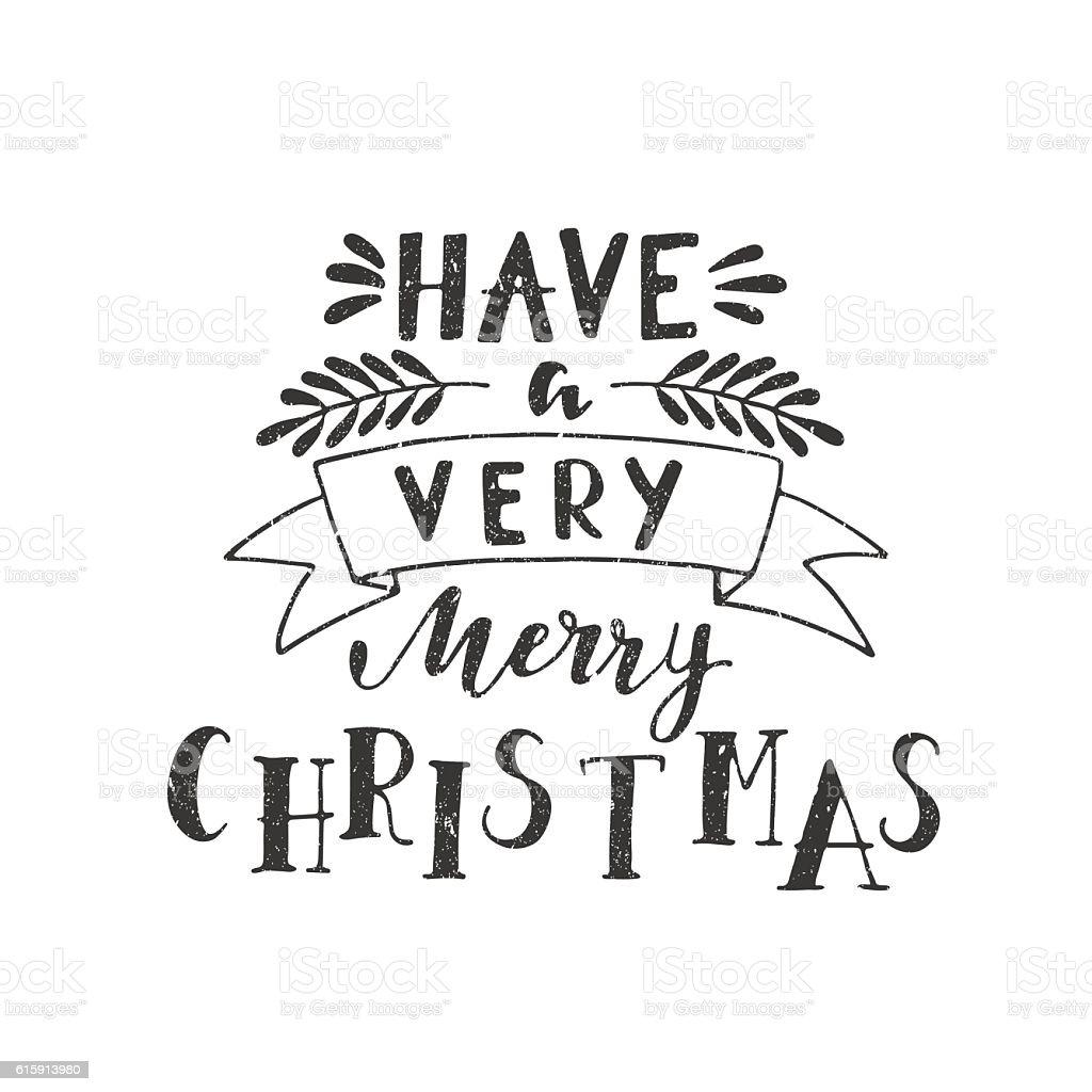 Holiday Calligraphy Stock Vector Art 615913980 IStock