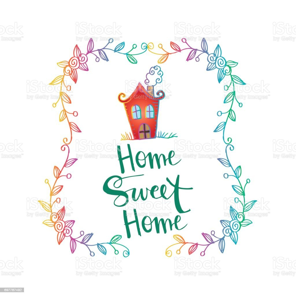 Set 9 km from taman ayun temple, coliving bali sweet home kost lengkap di. Home Sweet Home Stock Illustration Download Image Now Istock
