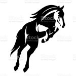 Horse Jump Black And White Vector Design Stock Illustration Download Image Now Istock