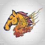 Horse Tattoo Logo Vector Icon Design Stock Illustration Download Image Now Istock