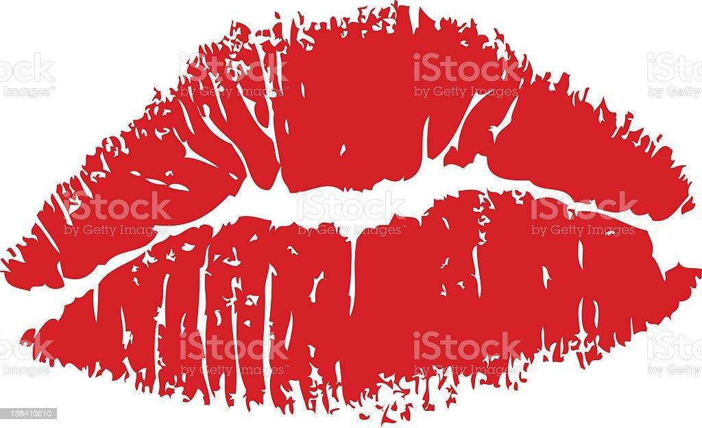 Lipstick Kiss Clip Art Vector Images Amp Illustrations Istock
