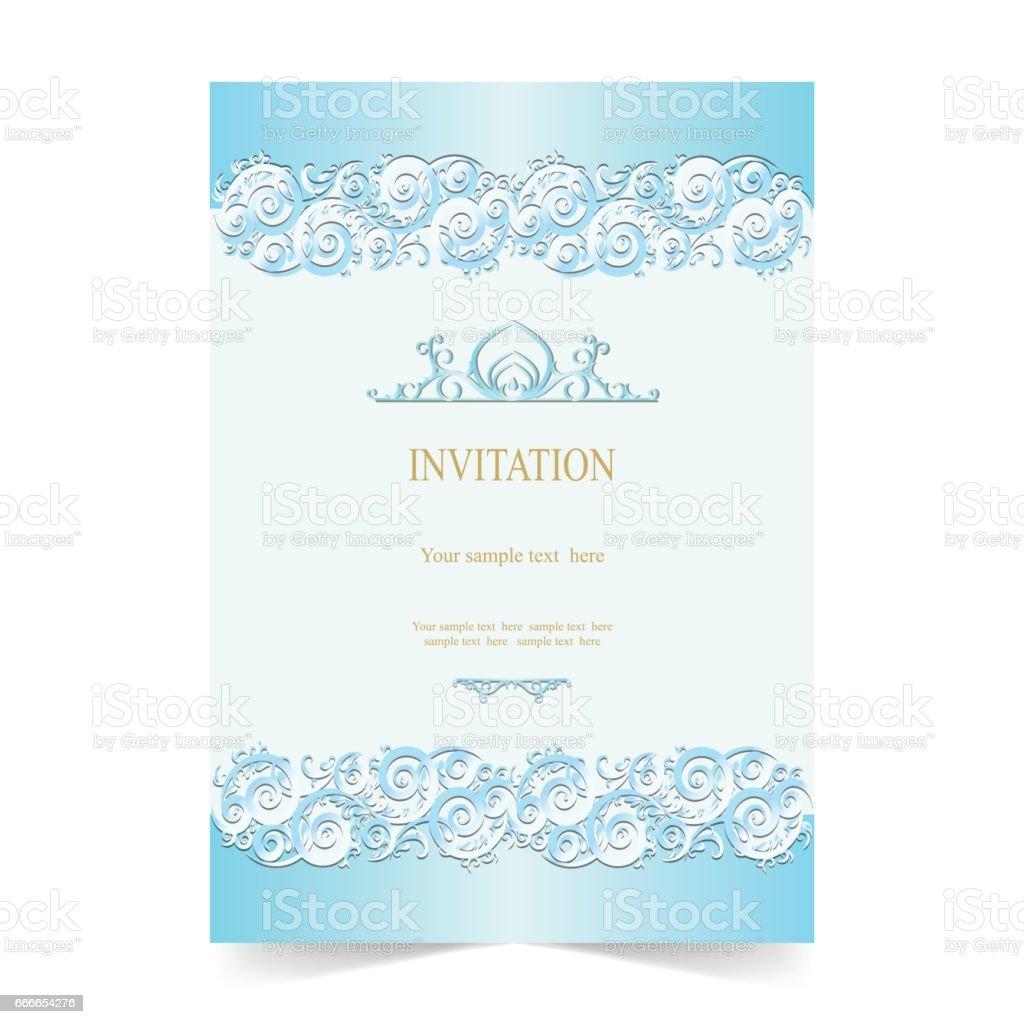 invitation card wedding card soft blue background stock illustration download image now istock