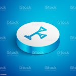 Isometric Line Floor Lamp Icon Isolated On Blue Background White Circle Button Vector Stock Illustration Download Image Now Istock