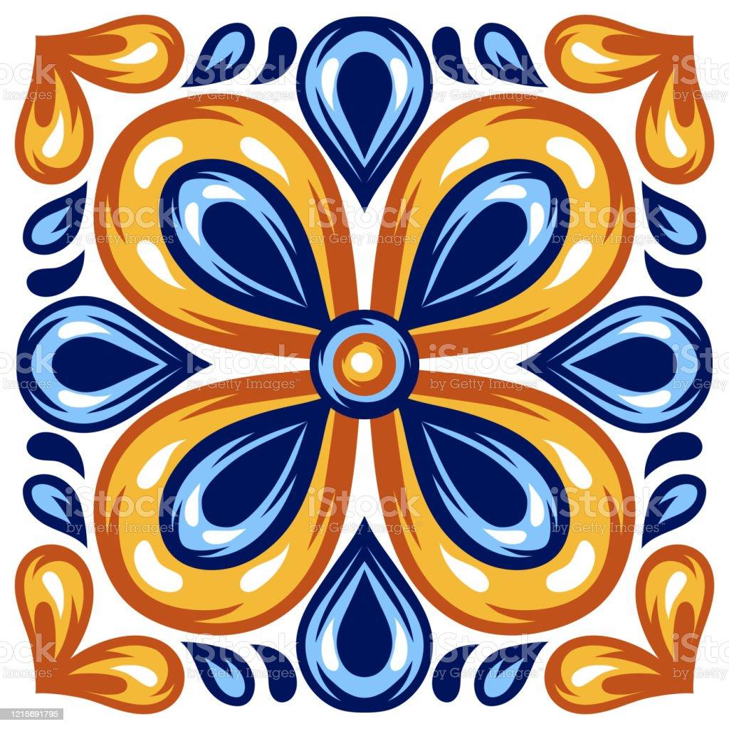 https www istockphoto com vector italian ceramic tile pattern mediterranean porcelain pottery gm1215691795 354177090