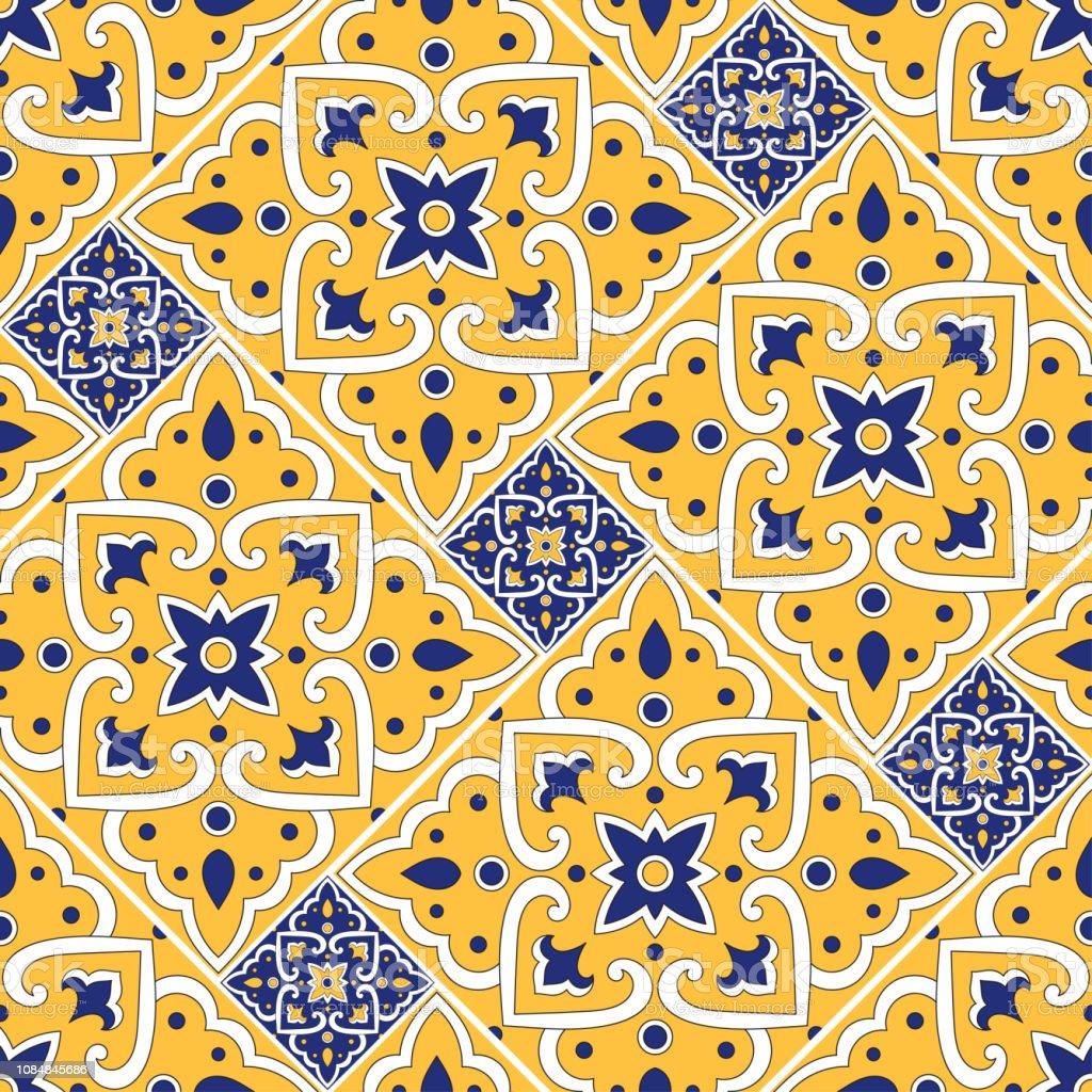 https www istockphoto com fr vectoriel carrelage italien vecteur transparente avec des ornements floraux azulejos gm1084845686 291093126