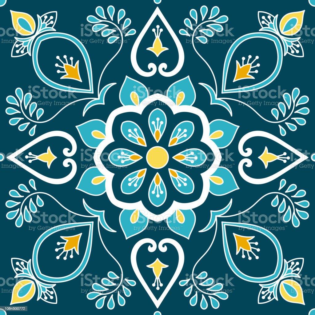 carrelage italien vecteur avec des motifs dornements floraux plancher de sicile italie impression azulejos portugais mexicain talavera texture en ceramique majolique espagnole pour mur de chambre salle de bains ou la cuisine