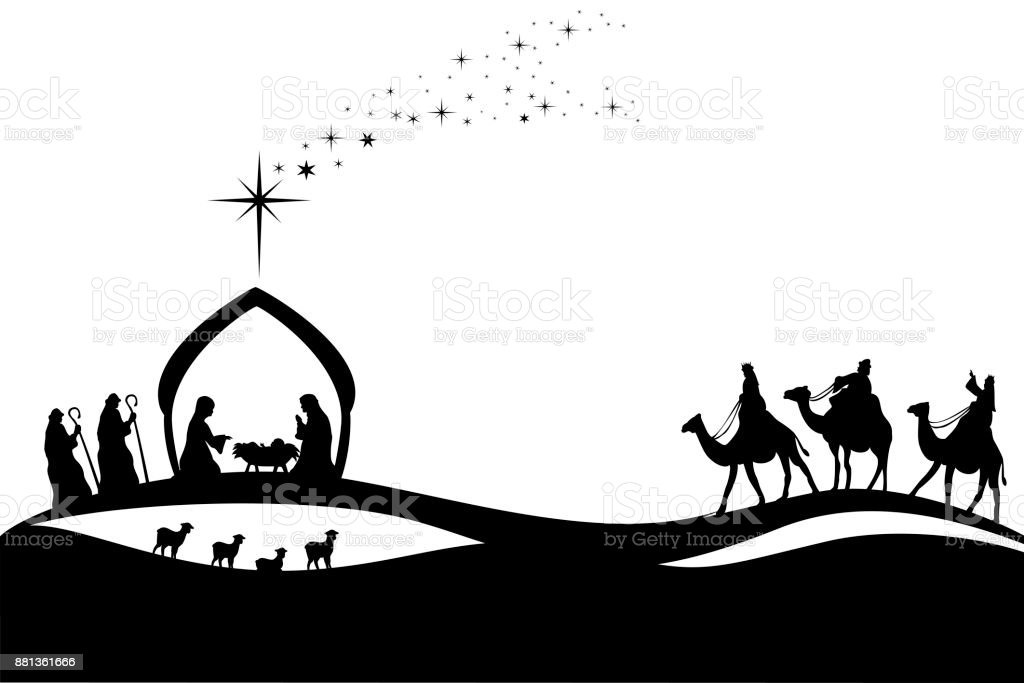 Royalty Free Nativity Silhouette Clip Art Vector Images