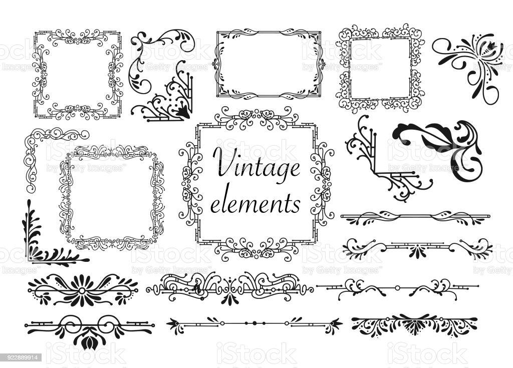https www istockphoto com de vektor kit von vintage elemente f c3 bcr einladungen banner poster plakate abzeichen oder gm922889914 253347613