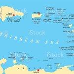 Lesser Antilles Political Map Stock Illustration Download Image Now Istock