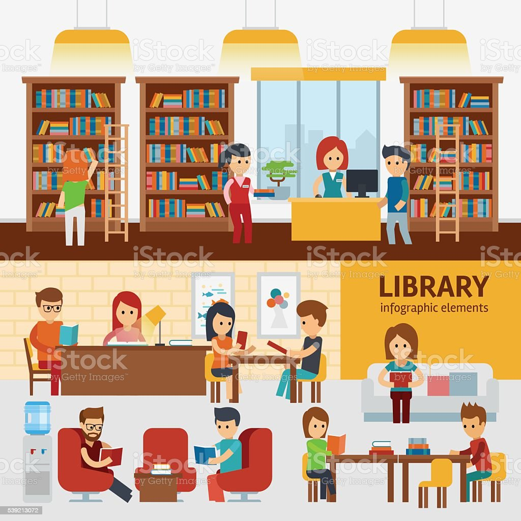 Best Librarian Illustrations Royalty Free Vector Graphics