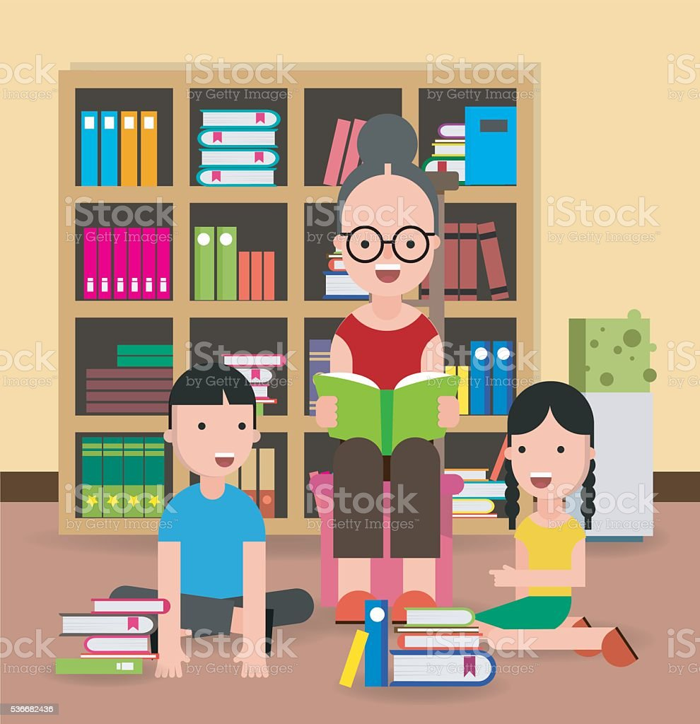 Public Library Illustrations Royalty Free Vector Graphics