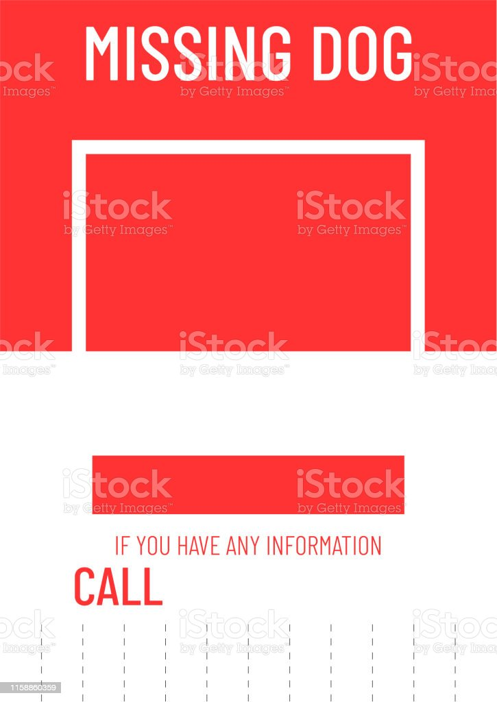 lost dog poster template missing pet banner design stock illustration download image now istock