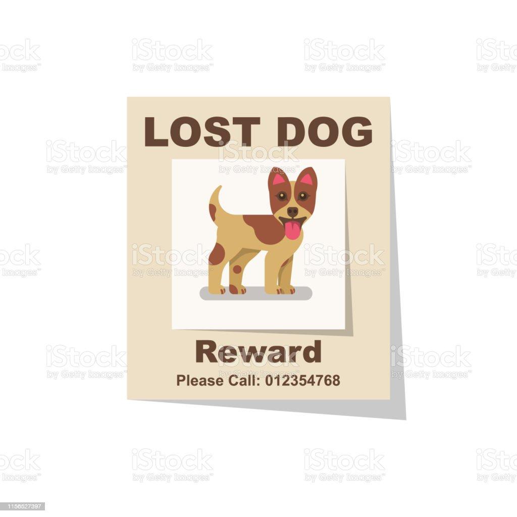63 lost dog poster illustrations clip art istock