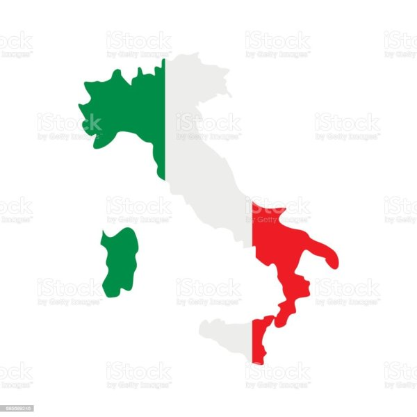 Map Of Italy With National Flag Icon Flat Style Stock Vector Art     Map of Italy with national flag icon  flat style royalty free map of italy
