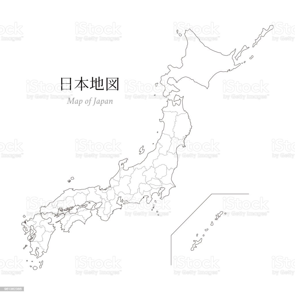 Map Of Japan A Blank Map An Outline Map Stock Illustration Download Image Now Istock