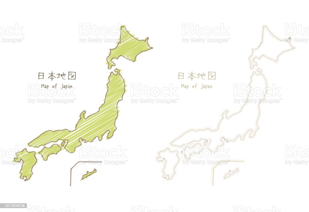 Map Of Japan Handdrawn Sketch Blank Map Stock Illustration Download Image Now Istock