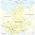 Map Of The Russian Siberian Federal District With Major Cities And Rivers Stock Illustration Download Image Now Istock