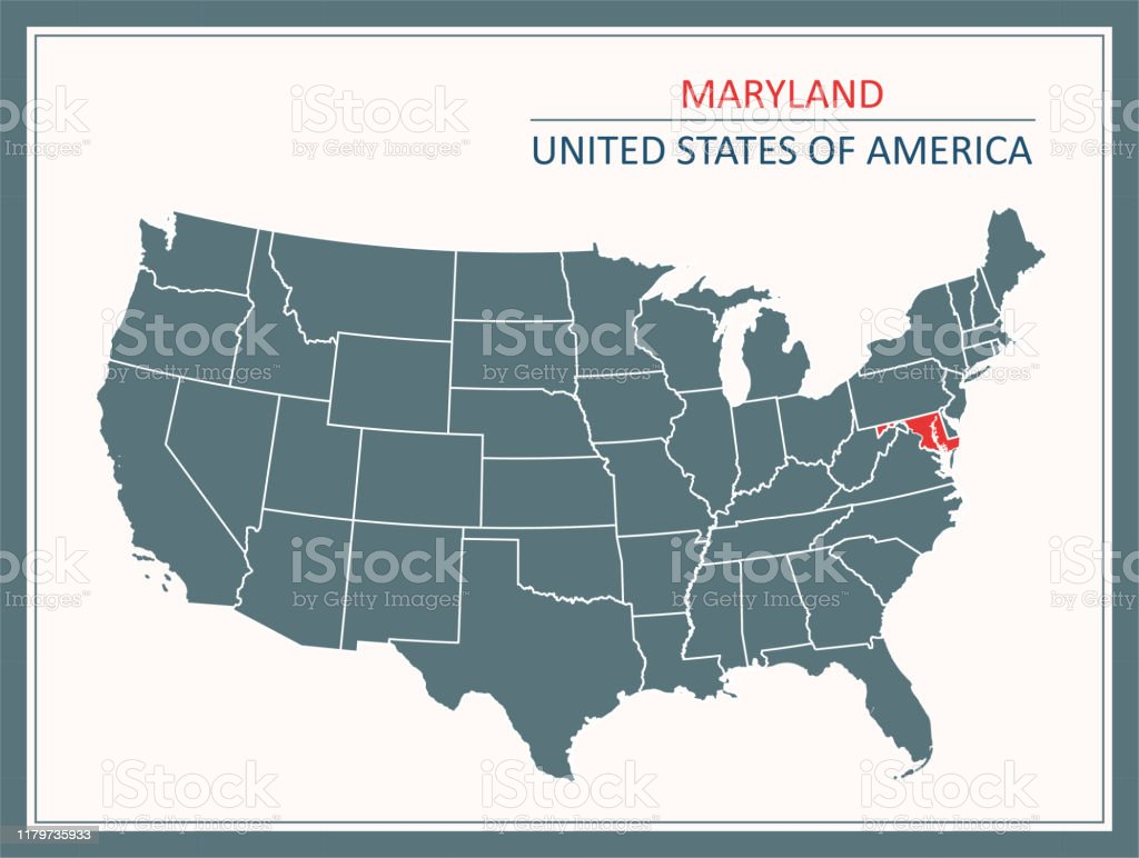 For example, a map of a mall may have symbols that reveal bathrooms,. Maryland Outline Vector Map Usa Printable Stock Illustration Download Image Now Istock