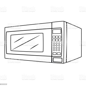 Microwave Oven Cartoon Drawing Stock Vector Art & More