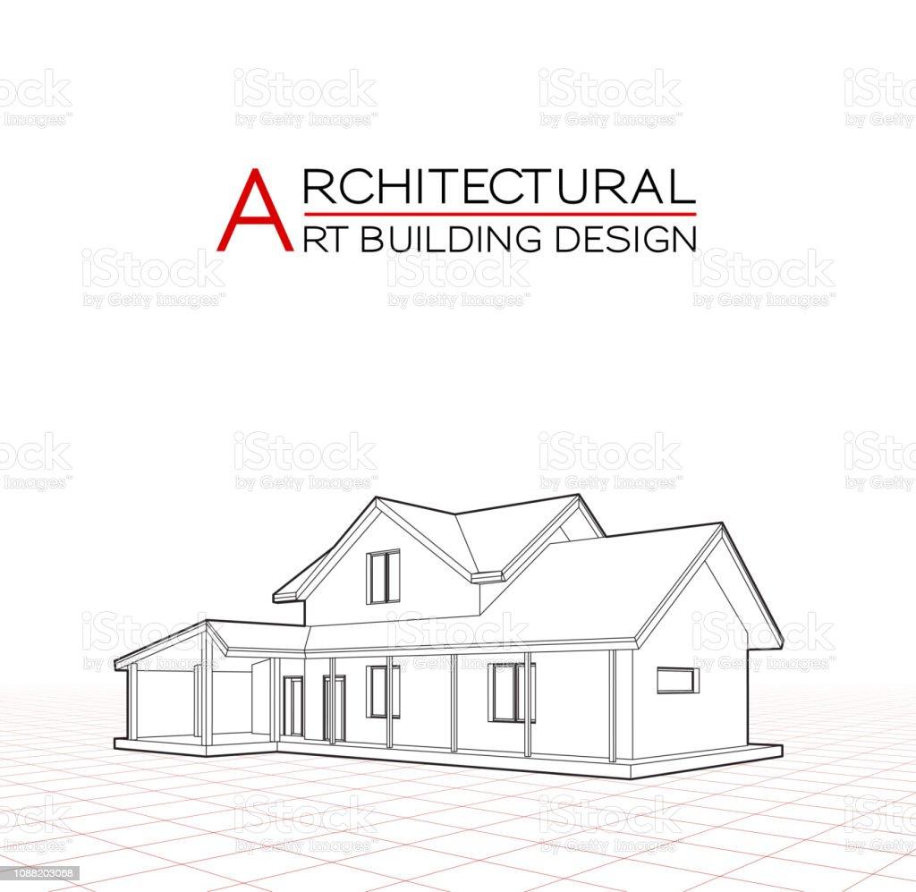 Vecteur De Maison Moderne De Construction Illustration 3d De Dessins Darchitecture Vecteurs Libres De Droits Et Plus D Images Vectorielles De Abstrait Istock