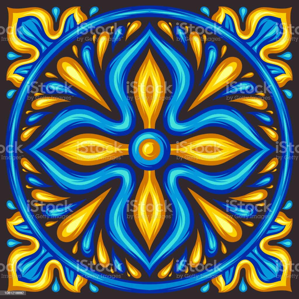 https www istockphoto com vector moroccan ceramic tile pattern gm1061218882 283683367