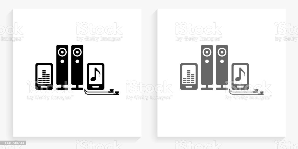 https www istockphoto com fr vectoriel ic c3 b4ne de la musique c3 a9lectronique noir et blanc carr c3 a9 gm1142739733 306627312
