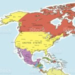 North America Map Countries And Cities Stock Illustration Download Image Now Istock
