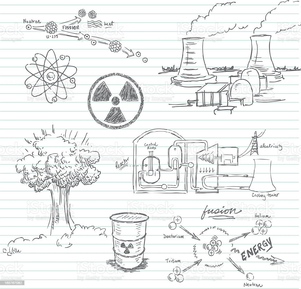 Nuclear Doodle Stock Vector Art Amp More Images Of Air