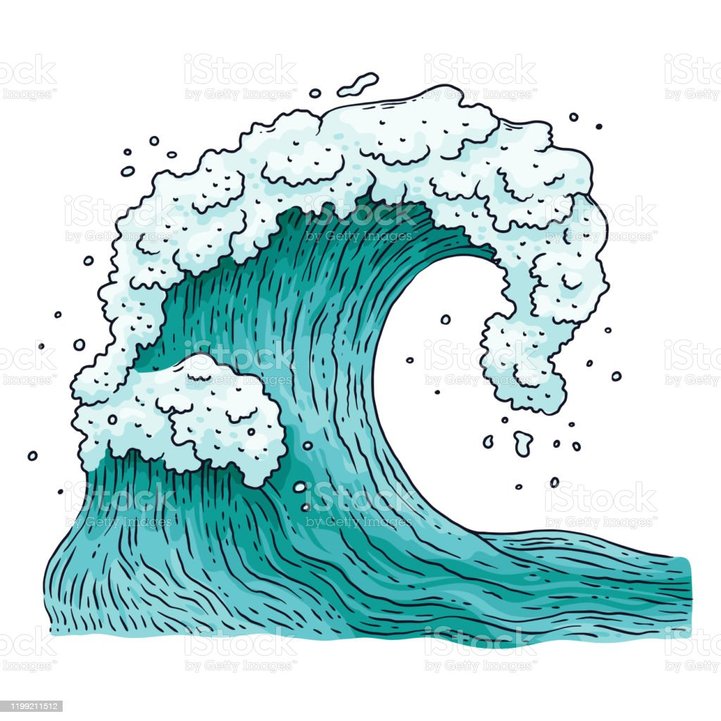 Distilled water is water that has been boiled into a vapor and condensed into a liquid, and subsequently is free from impurities such as salt and colloidal particles. Ocean Water Wave Tecknad Vektor Illustration I Japanska Gravyr Stil Isolerad Vektorgrafik Och Fler Bilder Pa Vag Vatten Istock