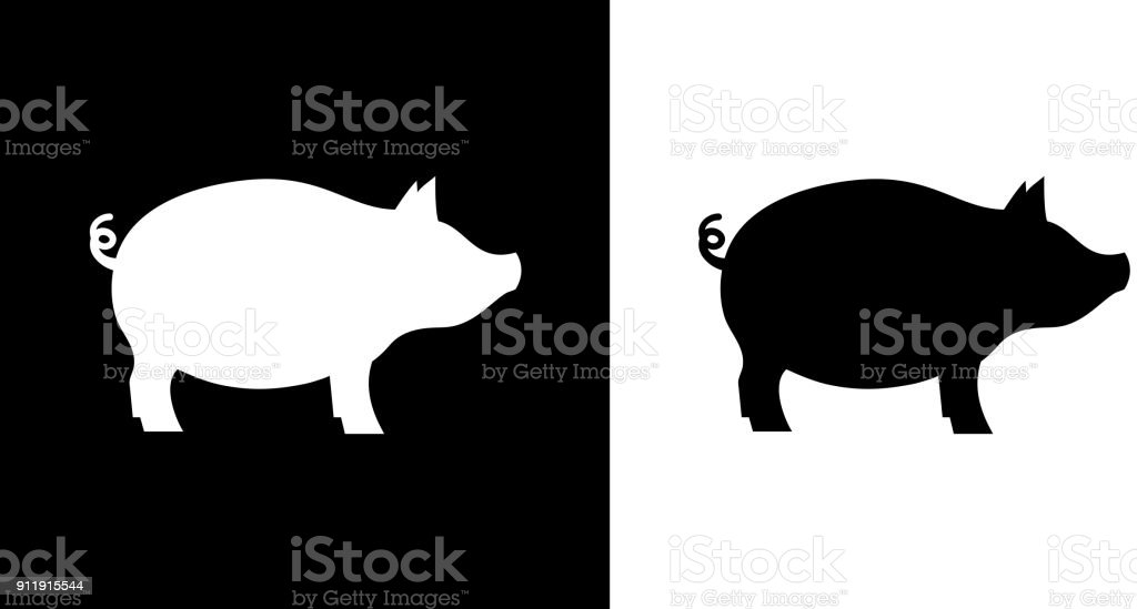 Pig Chicken Black Art Cow White And Clip