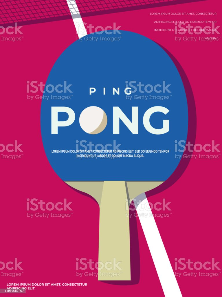 ping pong poster template table and rackets for pingpong vector illustration eps10 stock illustration download image now istock