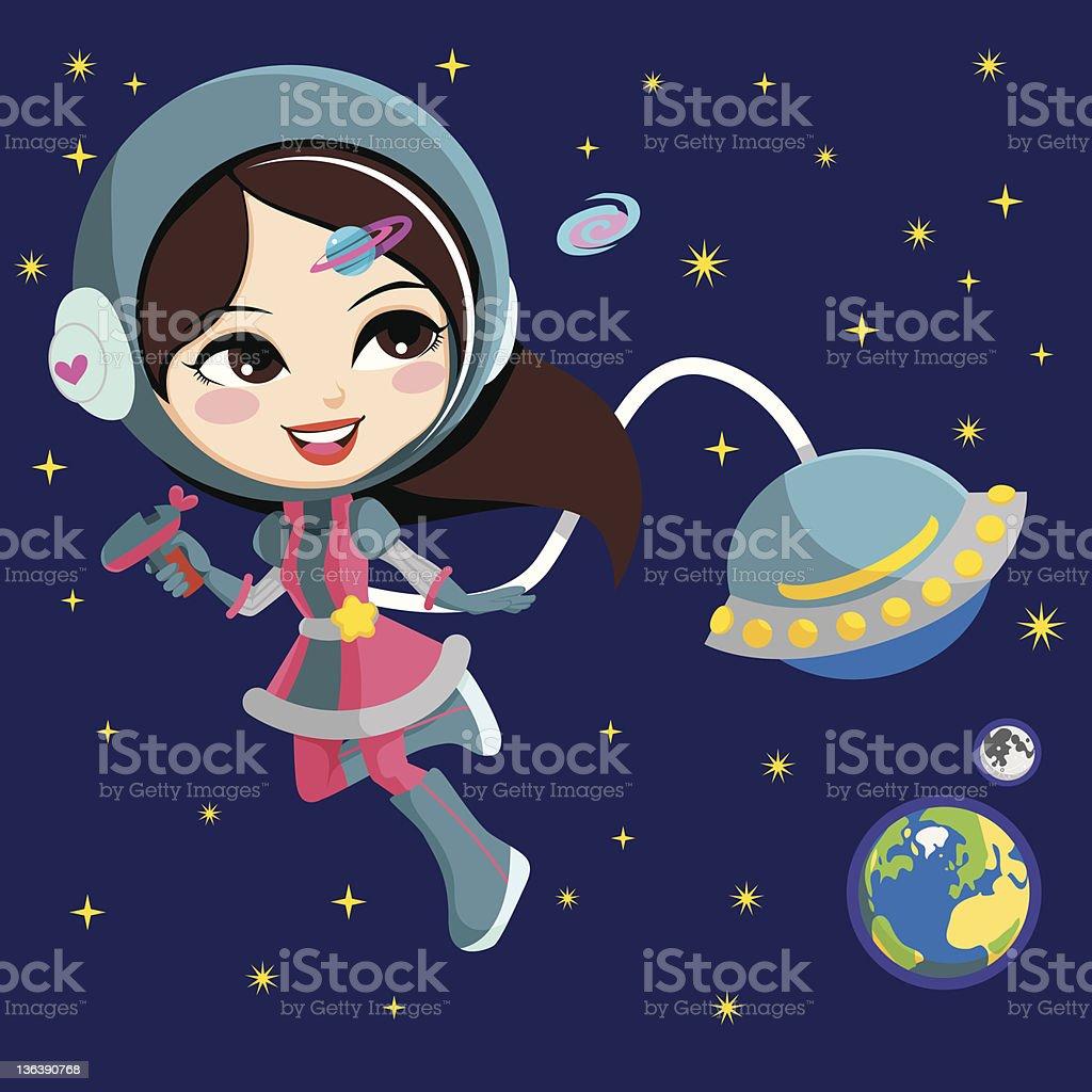 Girl Astronaut Illustrations, Royalty-Free Vector Graphics ...