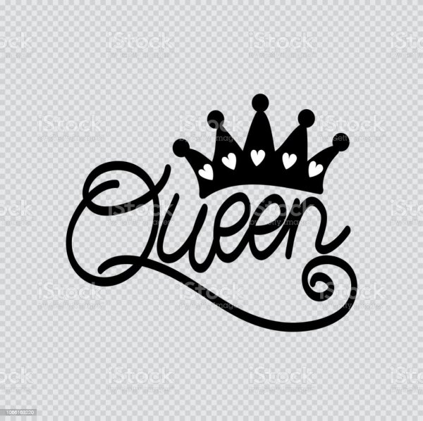 Queen Word With Crown Stock Illustration - Download Image ...