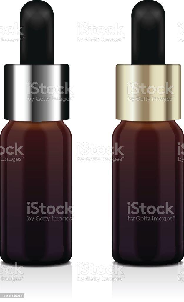 https www istockphoto com fr vectoriel jeu de bouteille r c3 a9aliste huile essentielle brun vector mock up bouteille gm854295964 140546305
