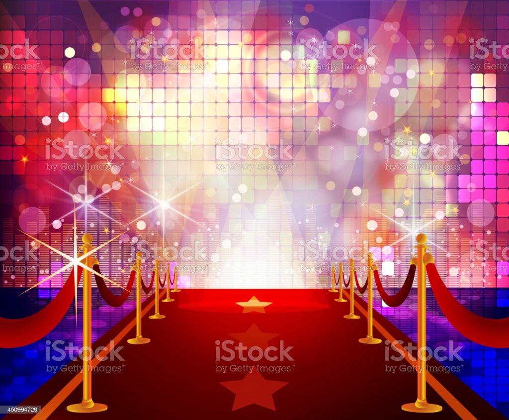 https www istockphoto com fr vectoriel tapis rouge avec fond disco color c3 a9s gm450994729 25168000